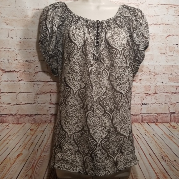 Apt. 9 Tops - Apt.9| Women's Peasant Top/Blouse  NWOT